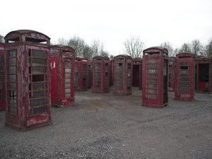 Red Telephone Box Graveyard